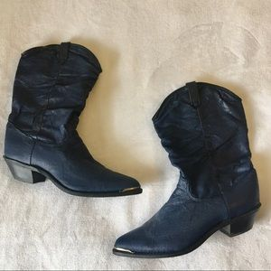 Dingo Cowgirl Western Navy Boots